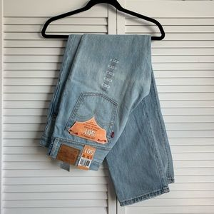 NWT Levi's Original Fit 501 Jeans Light Wash 31x32